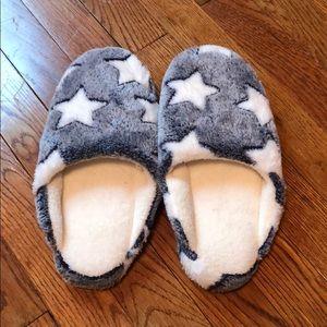 Brand New Fuzzy Star Slippers